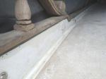 Finished sanding the caulk