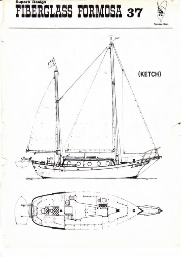 Blueprint of Seadog (from original Formosa 37 brochure, 1974)
